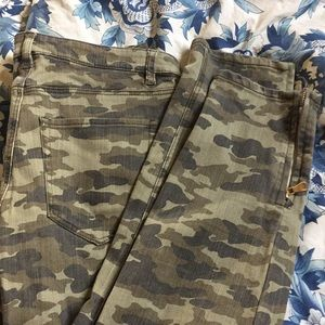 New camouflage jeans